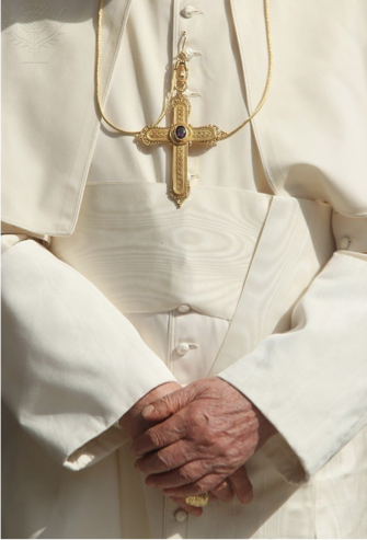 Papal dress, photo courtesy of Britannica.