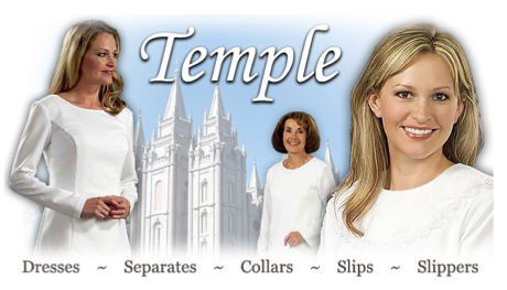 The Jesus Christ of Latter Day Saints store website, courtesy of http://www.ldsapparel.com.
