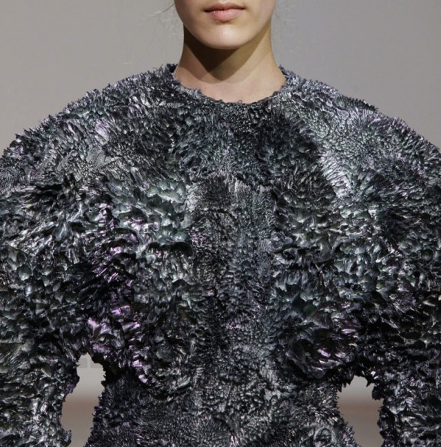 Iris Van Herpen haute couture autumn/winter 2013, in collaboration with Dutch artist Jólan Van Der Wiel.