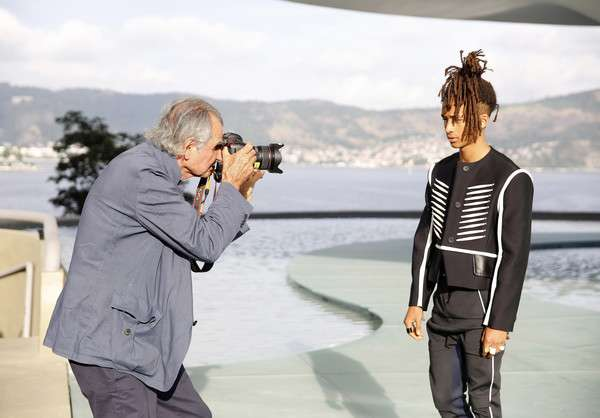ef236de7887 Jaden Smith poses for Patrick Demarchelier at the Louis Vuitton resort 2017  fashion show at the Niterói Contemporary Art Museum in Rio de Janeiro
