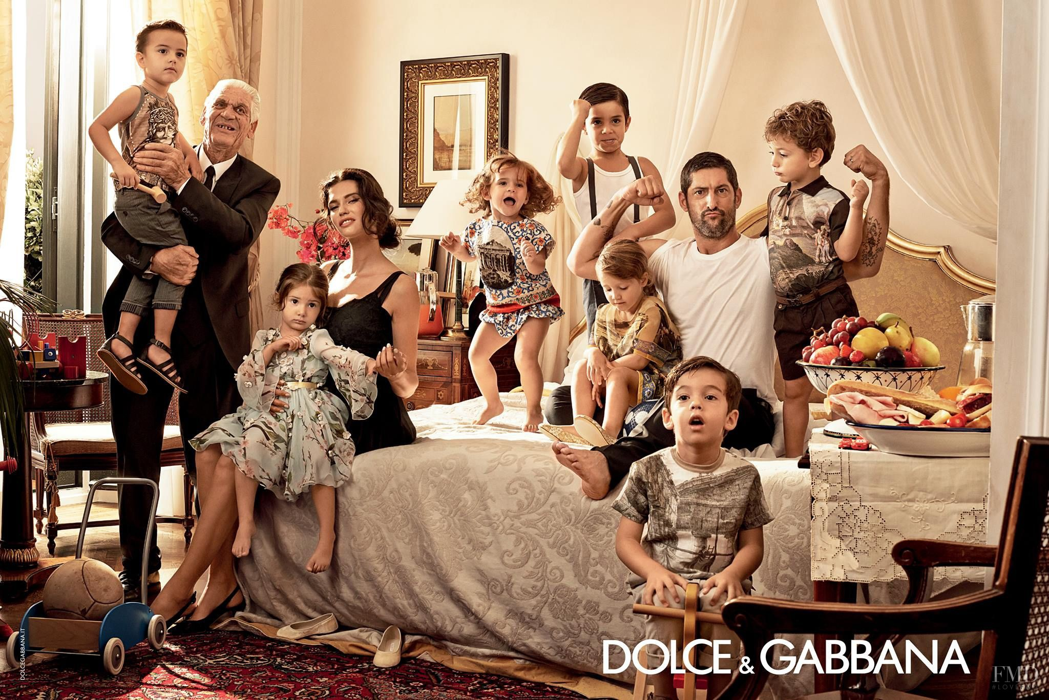 Dolce & Gabbana's spring/summer 2014 campaign, shot in Taormina, Sicily, relies on the tropes of the traditional family and small-town life. Photograph by Domenico Dolce.