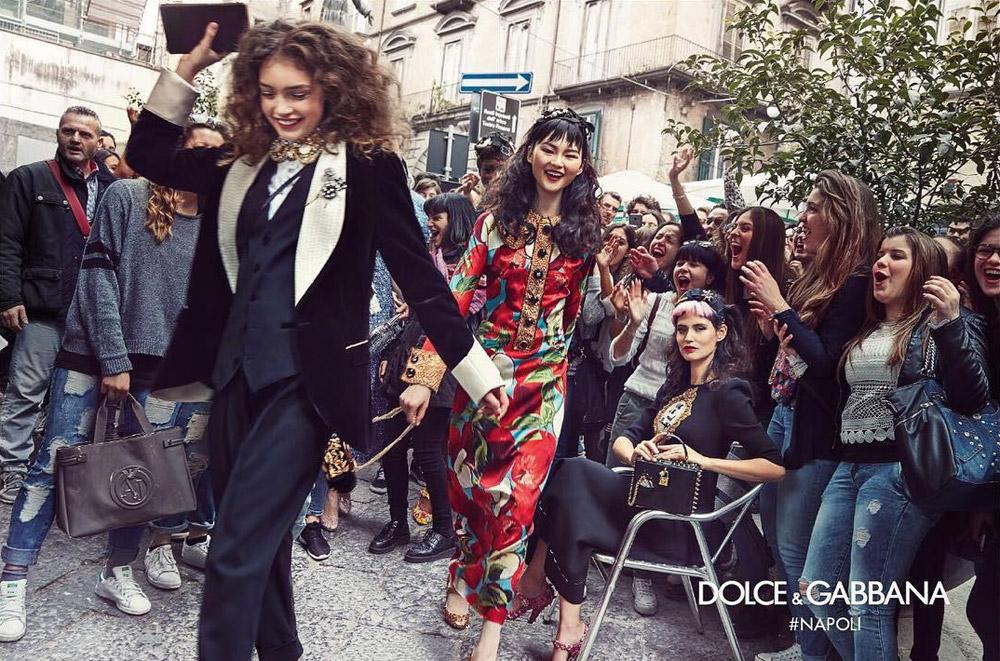 Dolce & Gabbana's autumn/winter 2016-17 campaign. Photograph by Franco Pagetti.