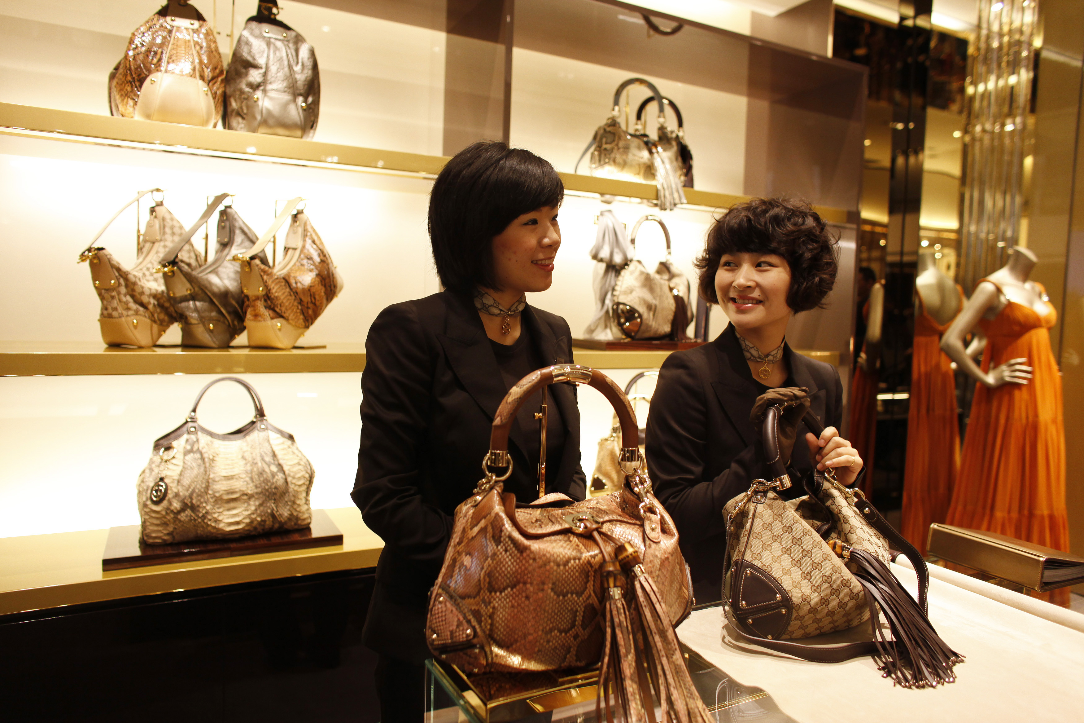 Gucci employees in Shanghai, 2009.