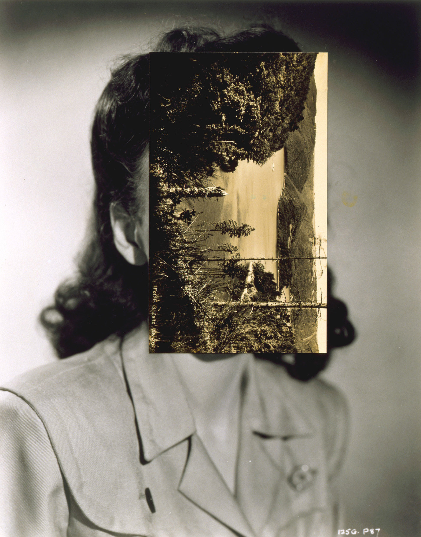 'Mask XXVI' by John Stezaker, 2006. Courtesy of the Museum of Modern Art.