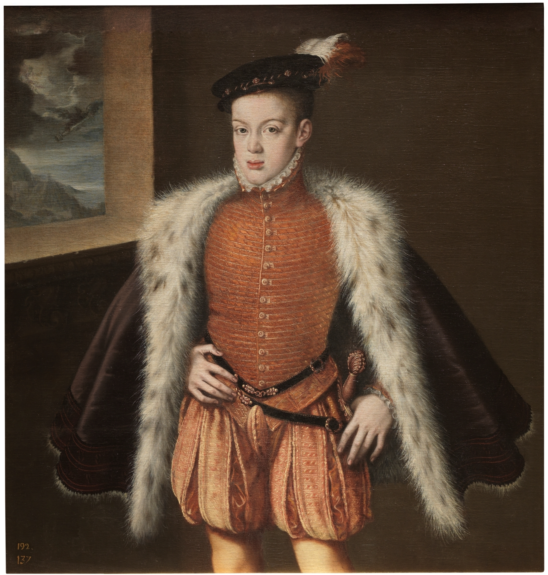 'Prince Don Carlos,' Alonso Sánchez Coello, 1555- 1559. Courtesy of Museo Nacional del Prado.