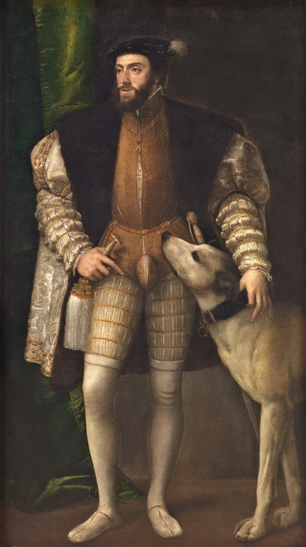 'The Emperor Charles V with a Dog,' Titian, 1533. Courtesy of Museo Nacional del Prado.