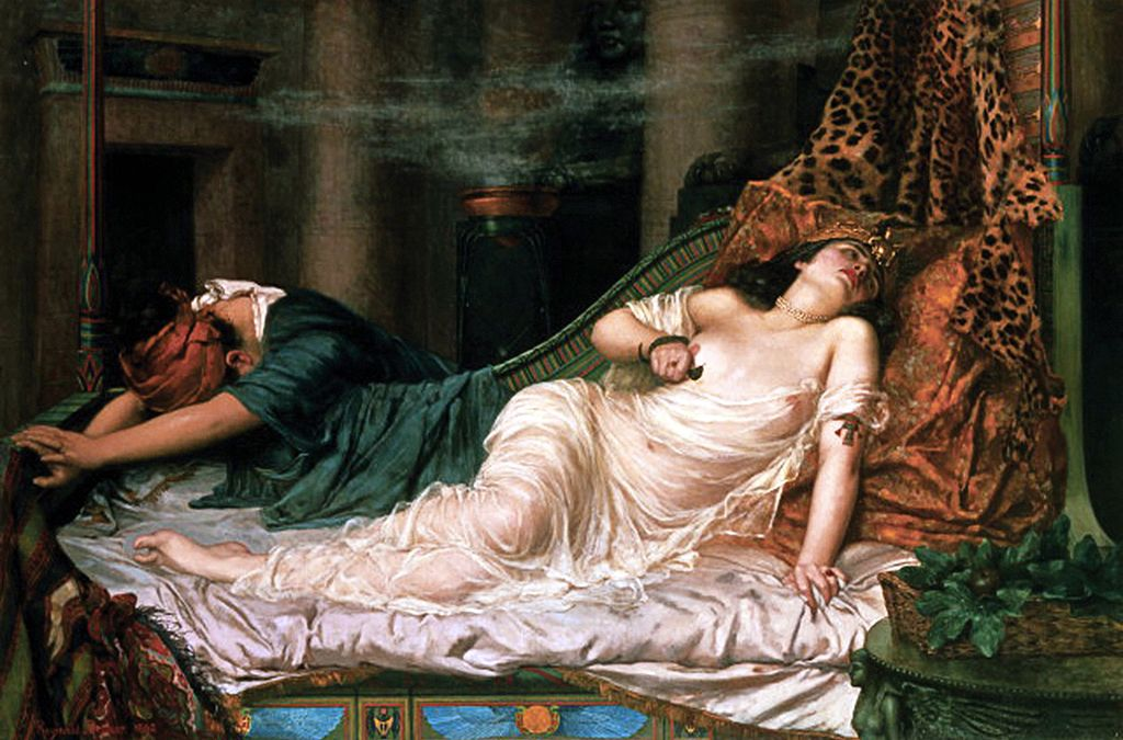 """The Death of Cleopatra."" Reginald Arthur, 1892"