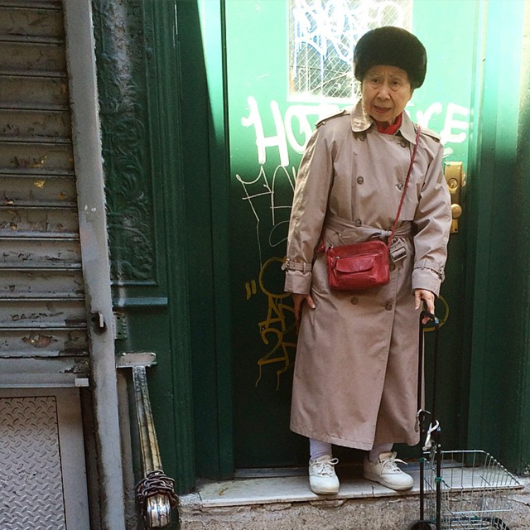 Courtesy of chinatown_streetstyle, an Instagram account documenting the fashions of New York's Chinatown.