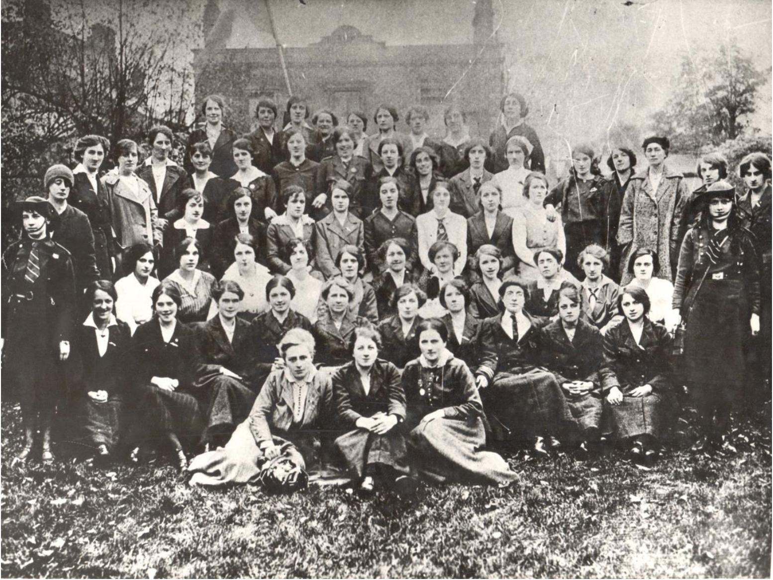 Photograph of the women who took part in the 1916 rising in the garden of Ely O'Carroll's house, 1916. Courtesy of Kilmainham Gaol Museum.